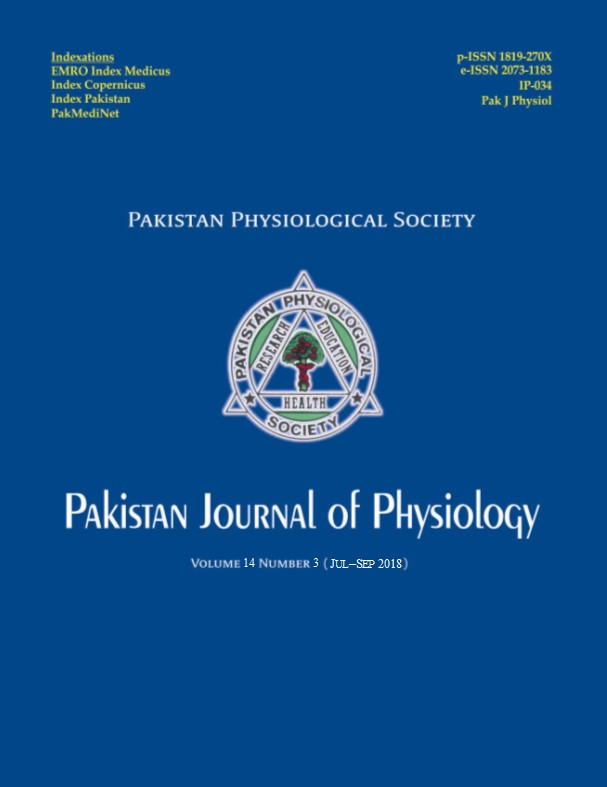 Pak J Physiol 2018;14(3)